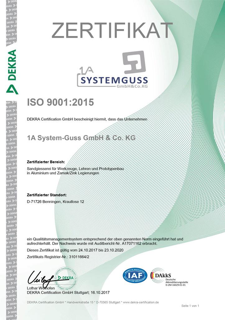 Zertifakt_systemguss